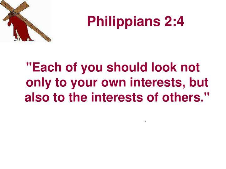 Philippians 2:4