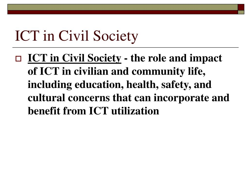 ICT in Civil Society