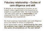 fiduciary relationship duties of care diligence and skill14