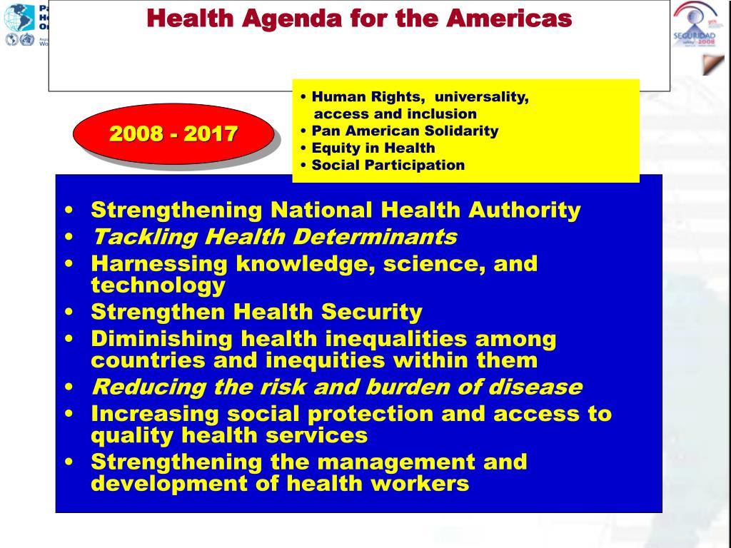 Health Agenda for the Americas