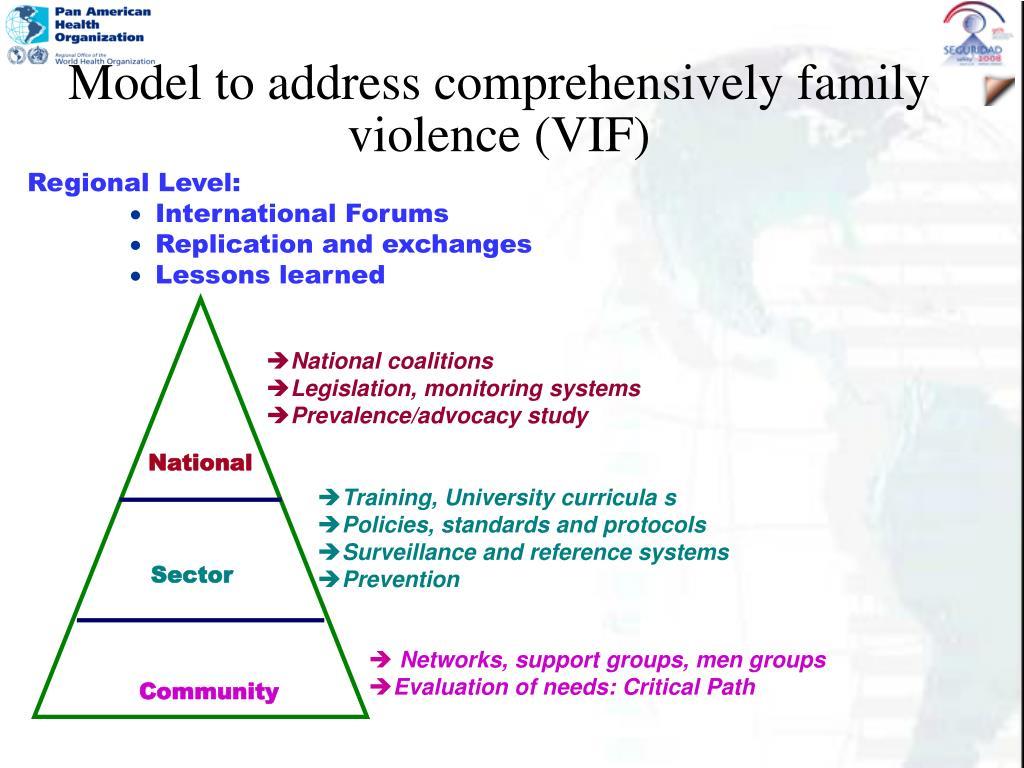 Model to address comprehensively family violence (VIF)