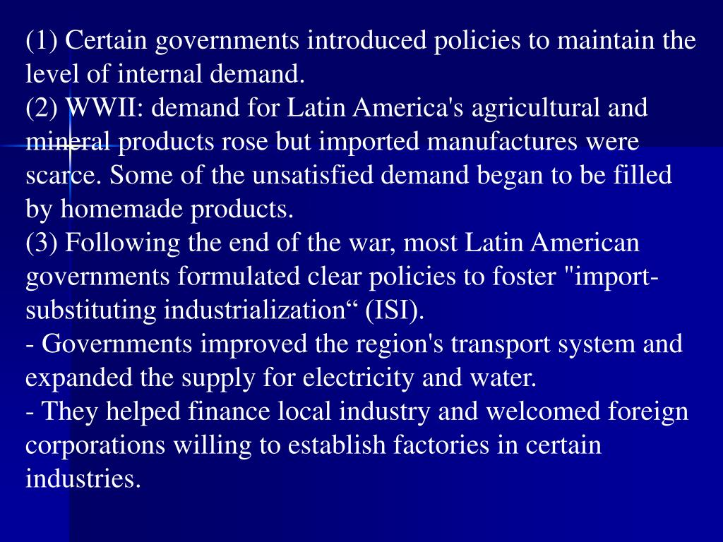 (1) Certain governments introduced policies to maintain the level of internal demand.