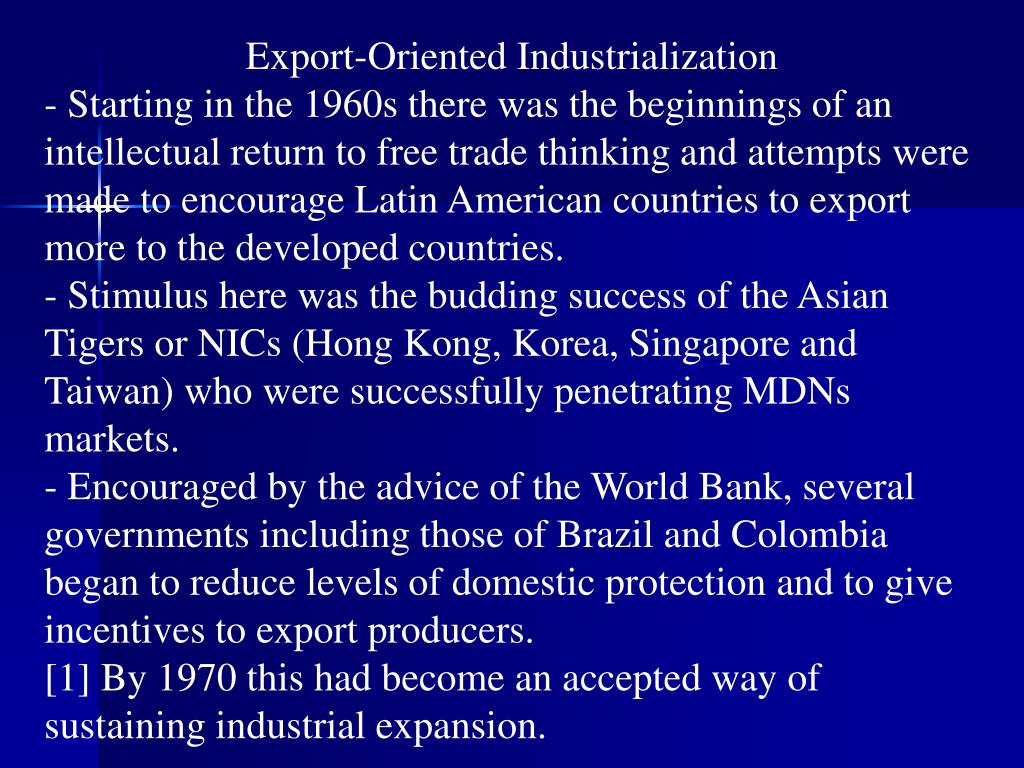 Export-Oriented Industrialization