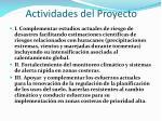 actividades del proyecto