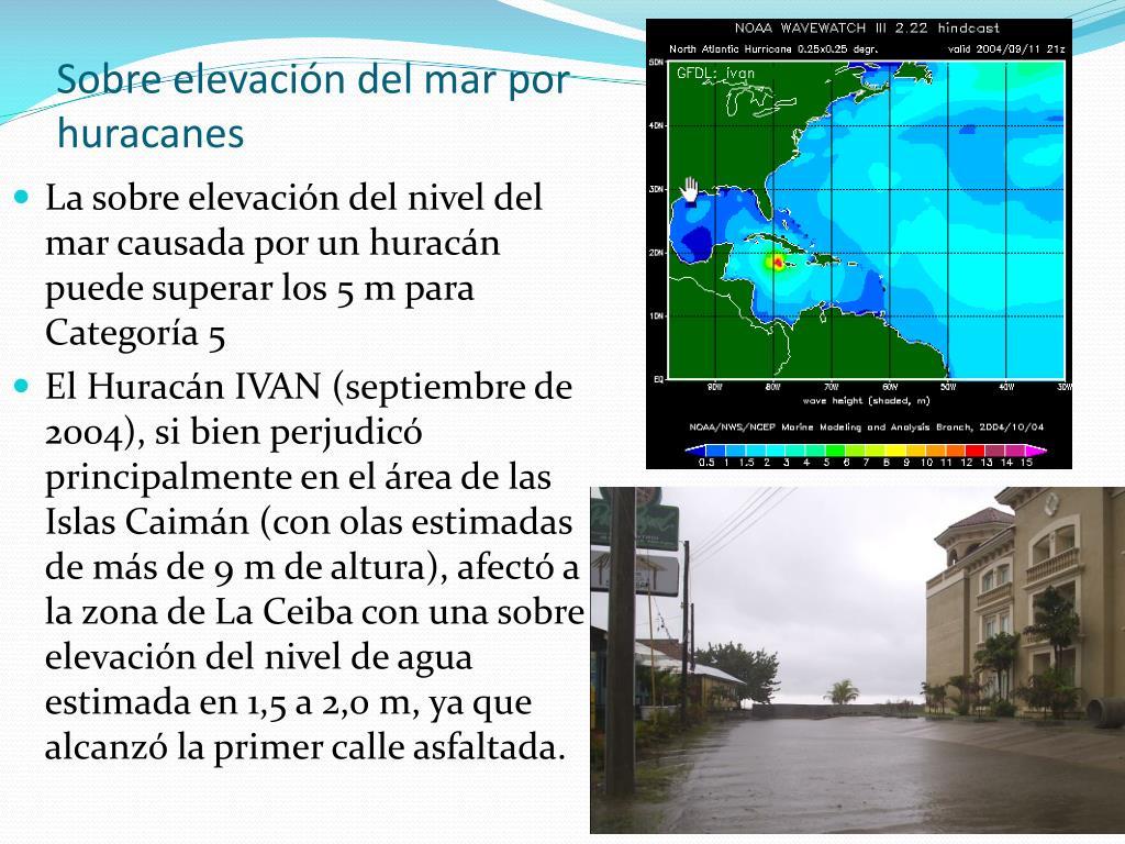 Sobre elevación del mar por huracanes