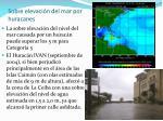 sobre elevaci n del mar por huracanes