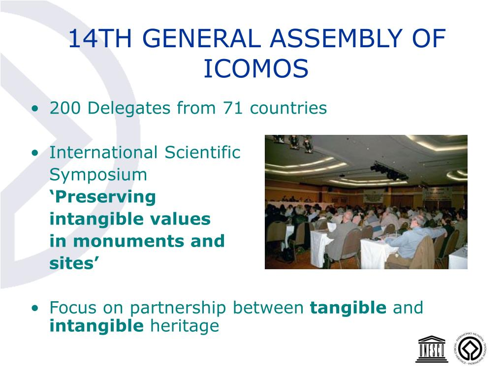 14TH GENERAL ASSEMBLY OF ICOMOS