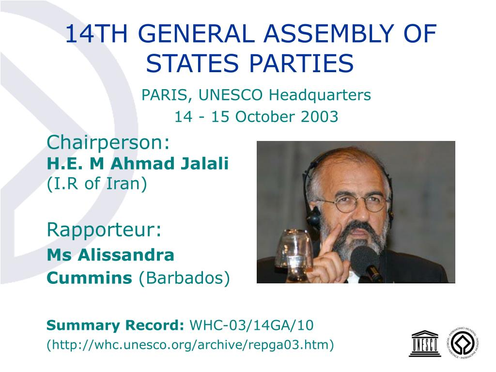 14TH GENERAL ASSEMBLY OF STATES PARTIES