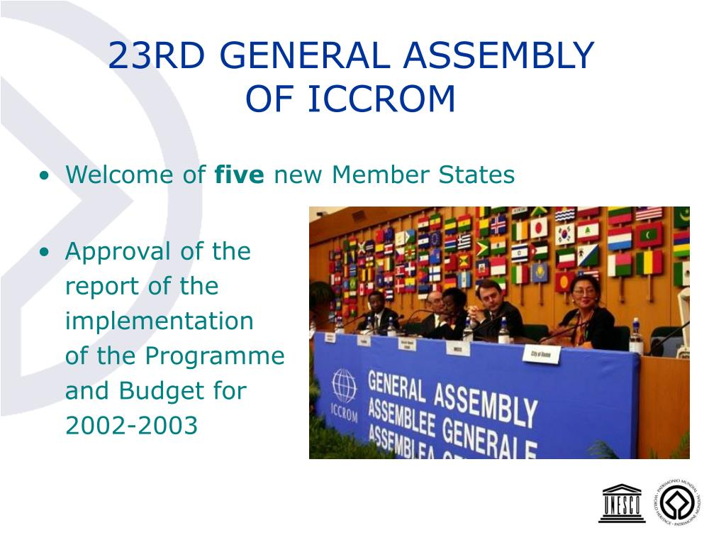 23RD GENERAL ASSEMBLY OF ICCROM