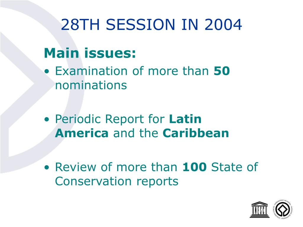 28TH SESSION IN 2004