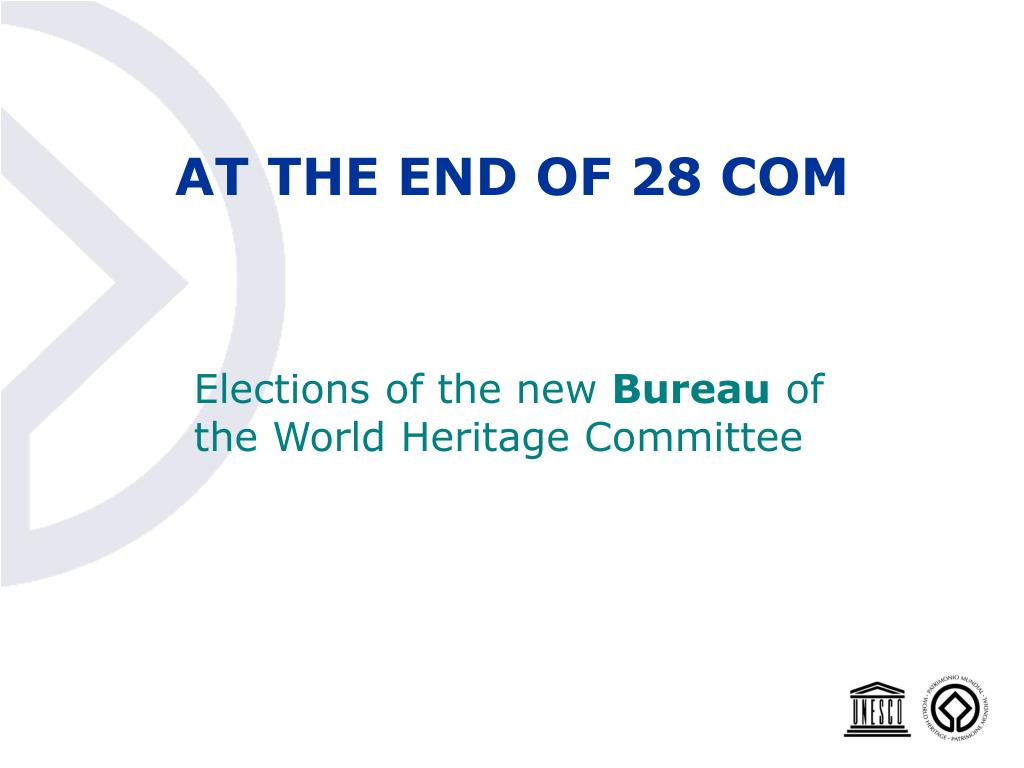 AT THE END OF 28 COM