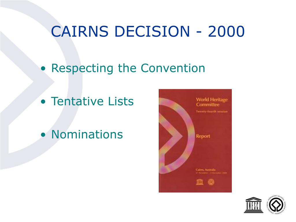 CAIRNS DECISION - 2000