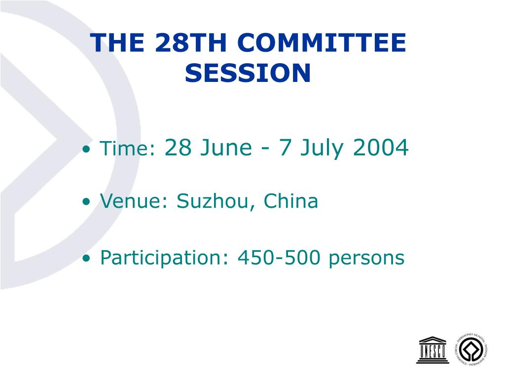 THE 28TH COMMITTEE SESSION