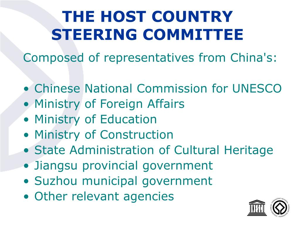 THE HOST COUNTRY STEERING COMMITTEE