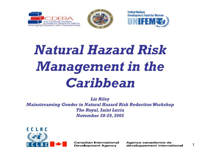 Natural Hazard Risk Management in the Caribbean