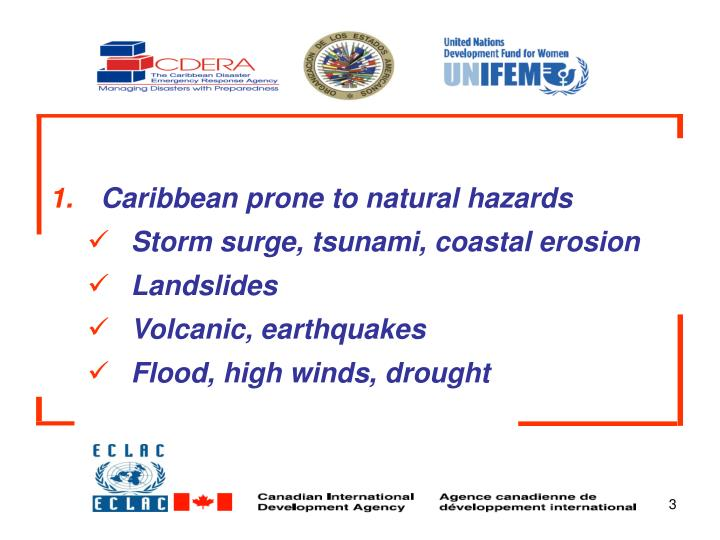 Caribbean prone to natural hazards