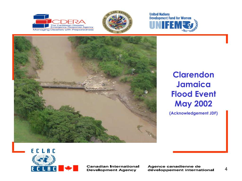 Clarendon Jamaica Flood Event May 2002