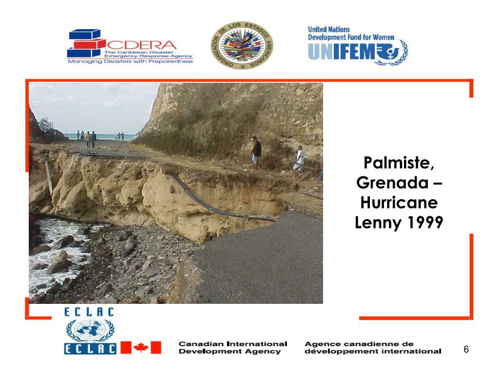 Palmiste, Grenada – Hurricane Lenny 1999