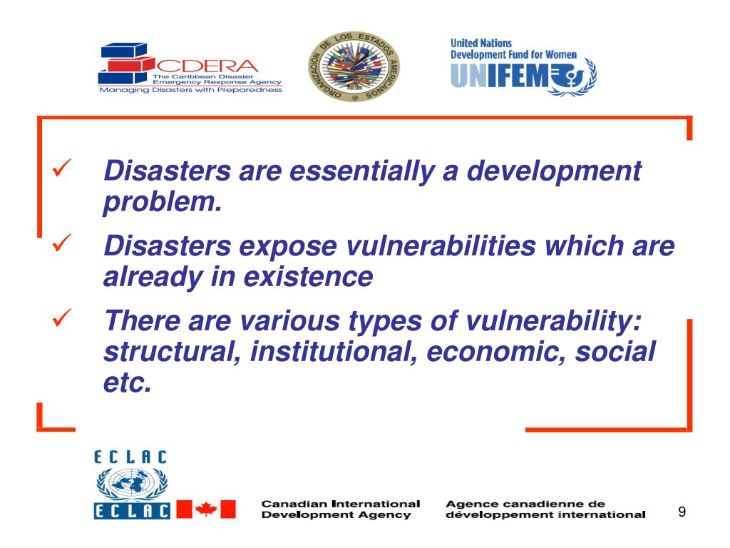 Disasters are essentially a development problem.