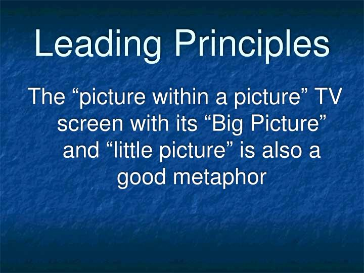 Leading Principles