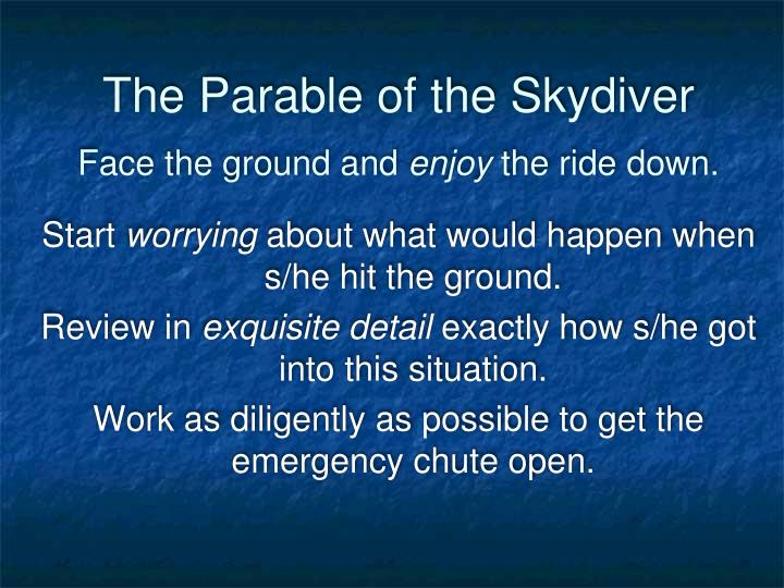 The Parable of the Skydiver