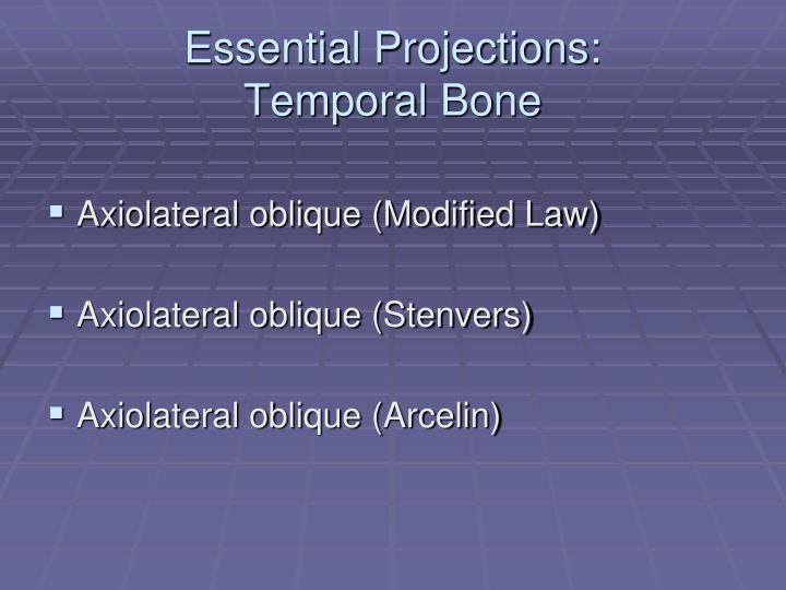 Essential Projections: