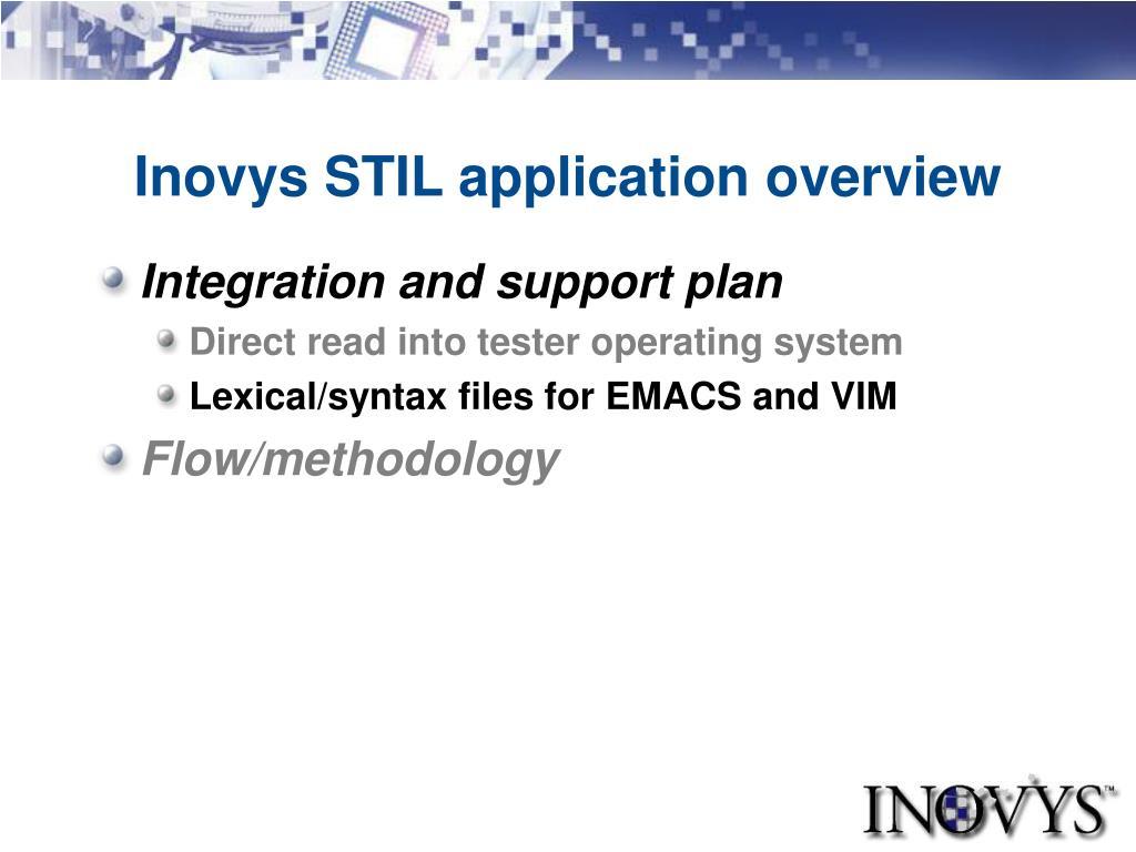 Inovys STIL application overview