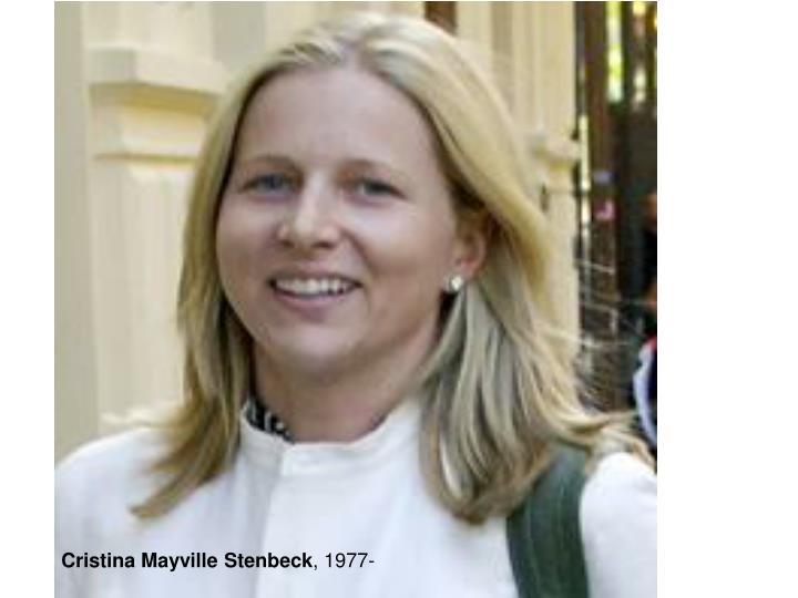 Cristina Mayville Stenbeck