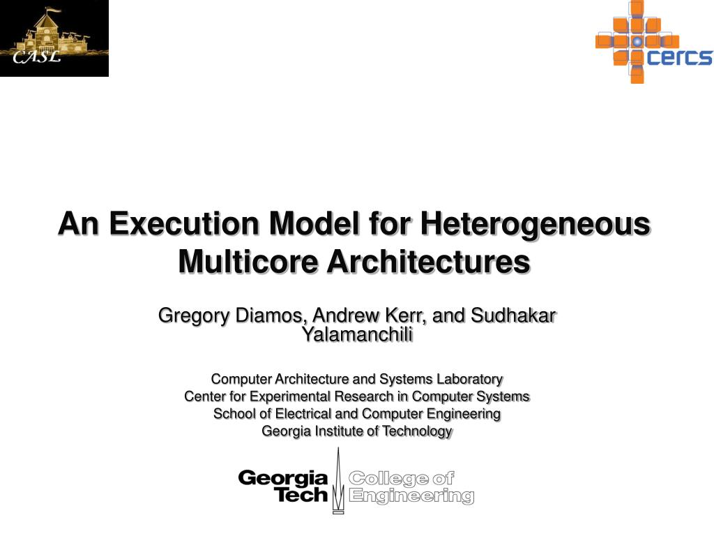 An Execution Model for Heterogeneous Multicore Architectures