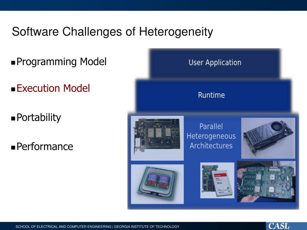 Software Challenges of Heterogeneity