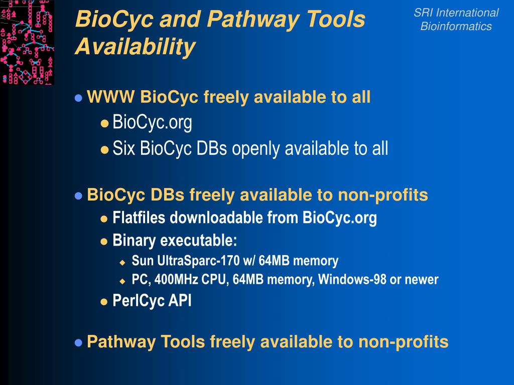 BioCyc and Pathway Tools