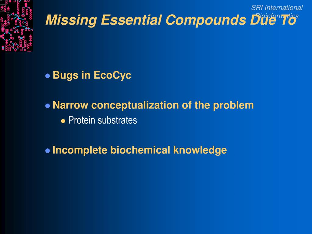 Missing Essential Compounds Due To
