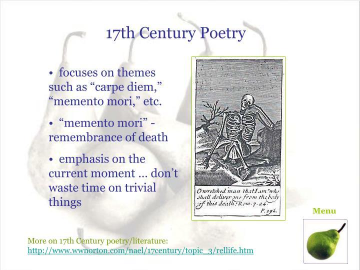 17th Century Poetry