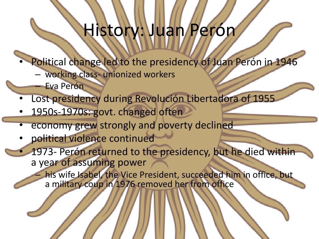 History: Juan Perón