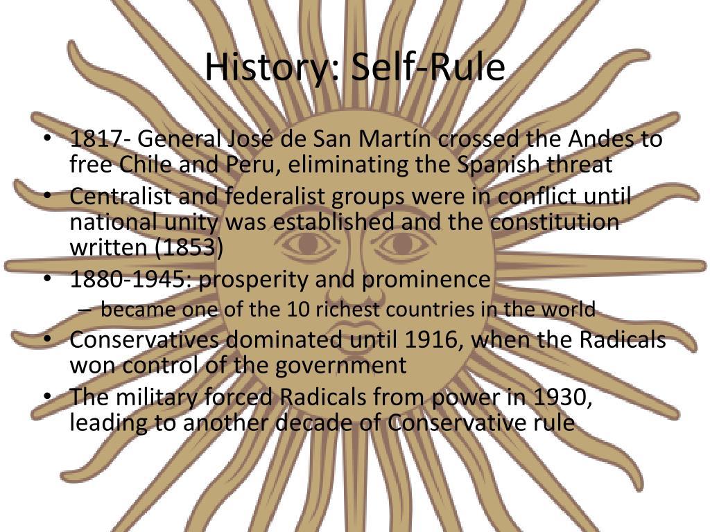 History: Self-Rule