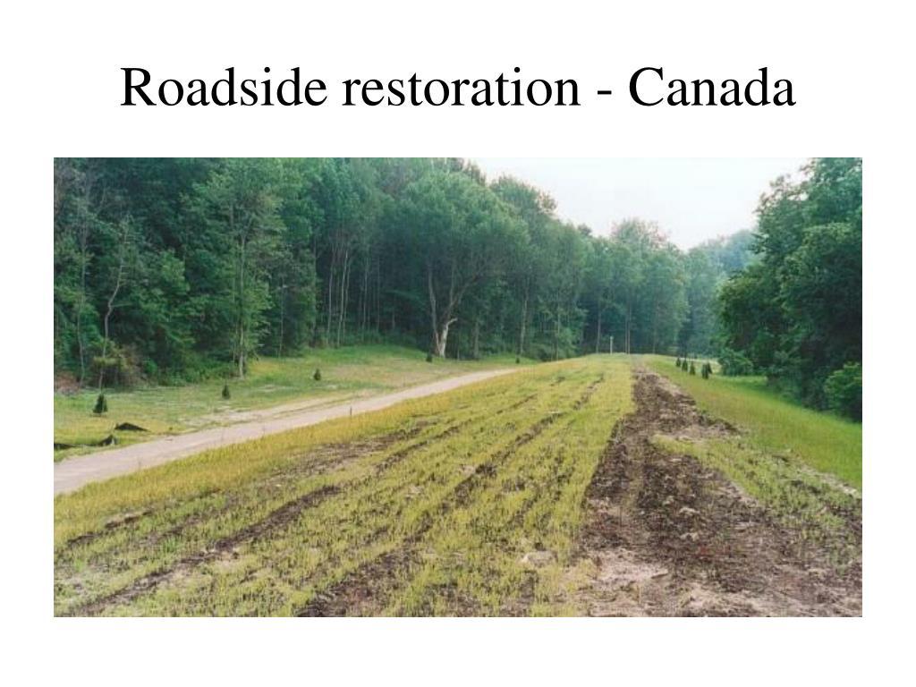 Roadside restoration - Canada