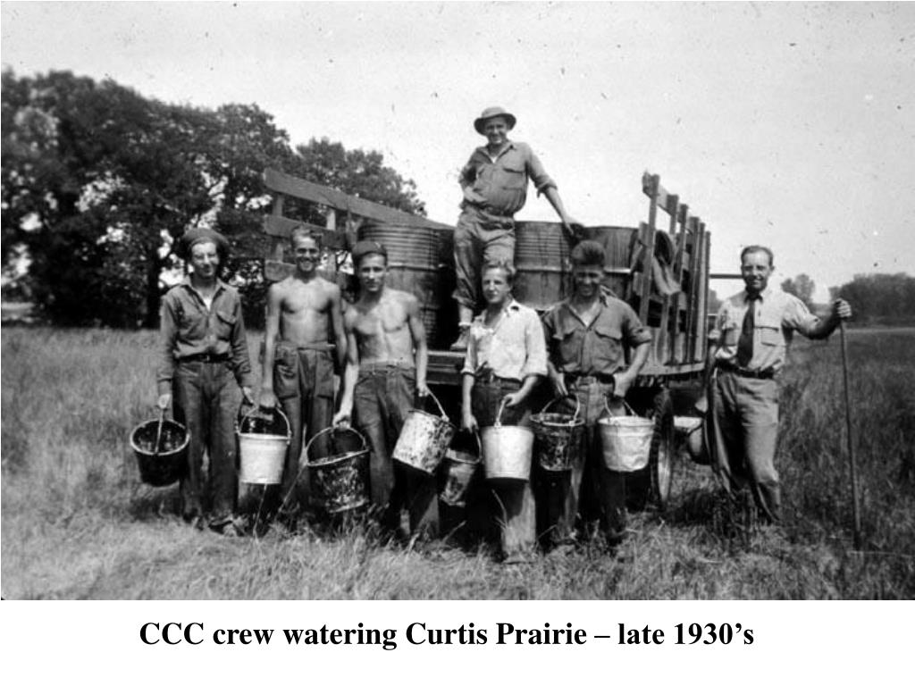 CCC crew watering Curtis Prairie – late 1930's