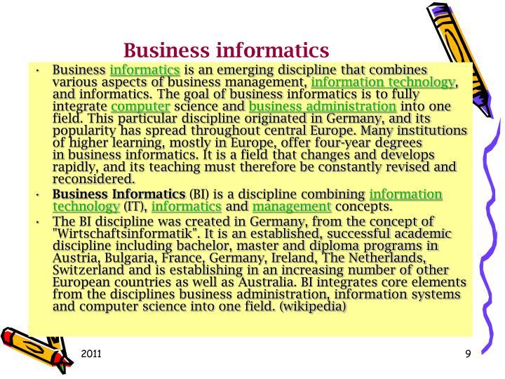 Businessinformatics