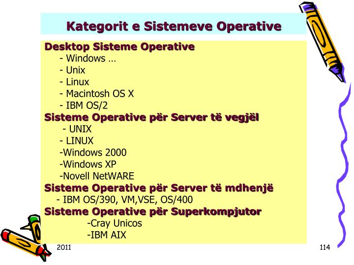 Kategorit e Sistemeve Operative