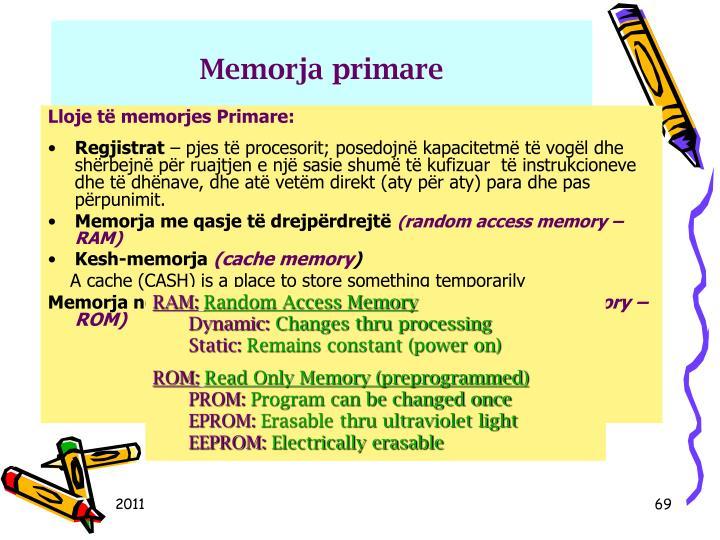 Memorja primare