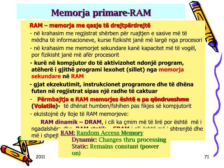 Memorja primare-RAM