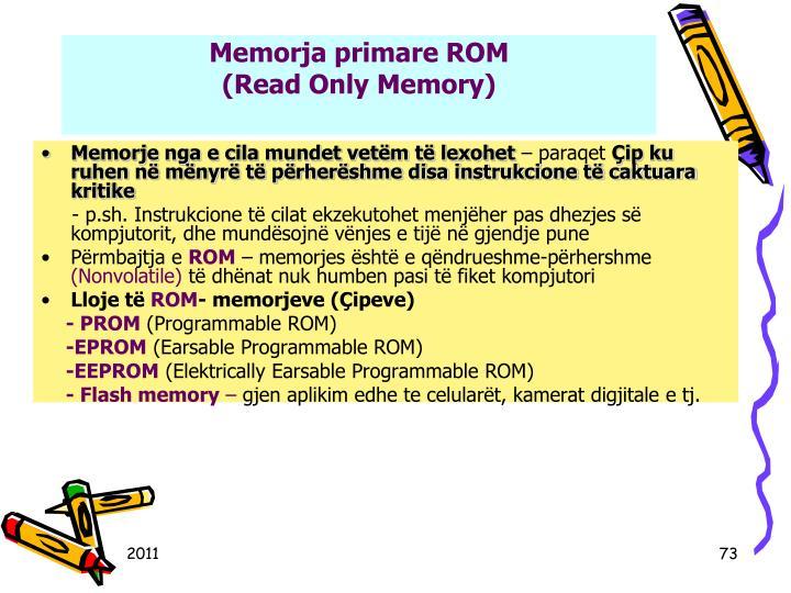Memorja primare ROM