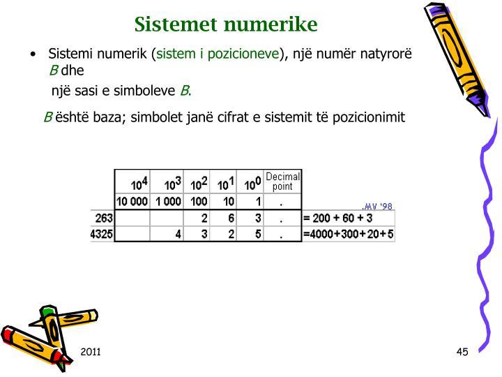 Sistemet numerike