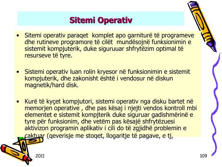Sitemi Operativ
