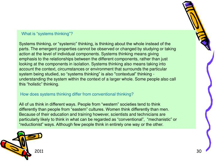 What is systems thinking?