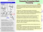 transaction processing bach processing