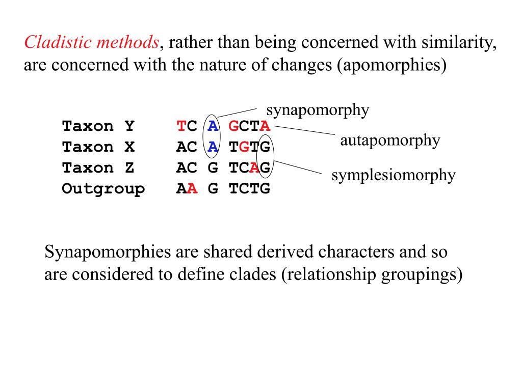Cladistic methods