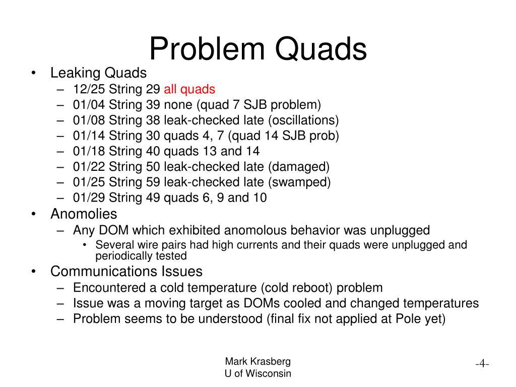 Problem Quads