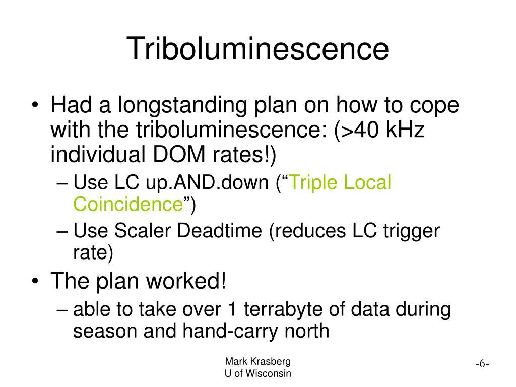 Triboluminescence