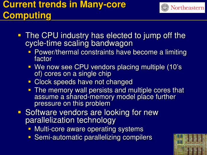 Current trends in many core computing l.jpg